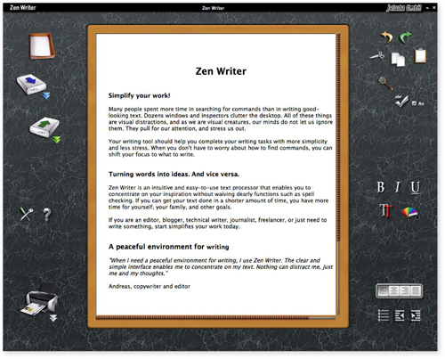 Zen Writer is the modern writing experience that enables you to concentrate on your inspiration.