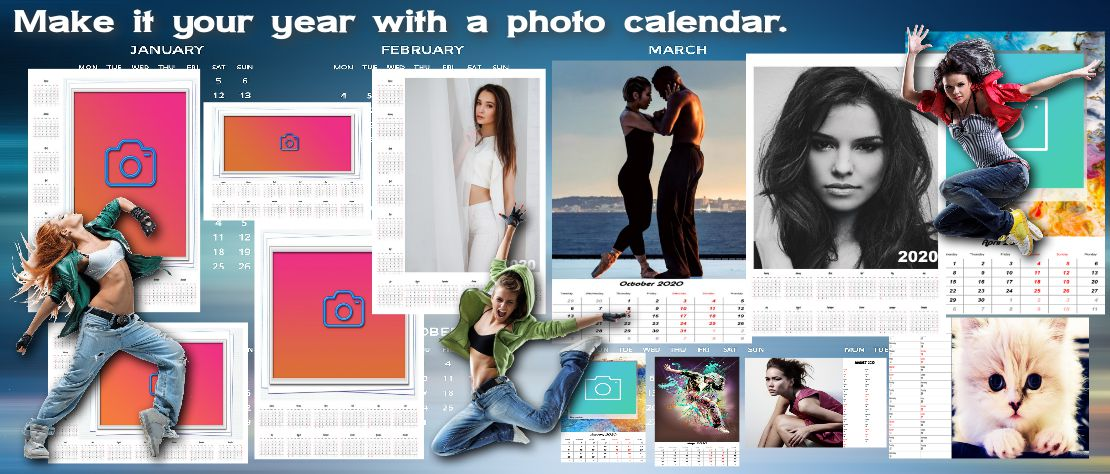 Make it your year with a photo calendar.