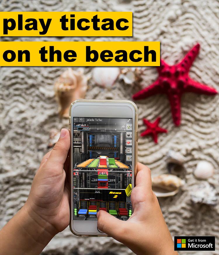 play tictac on the beach