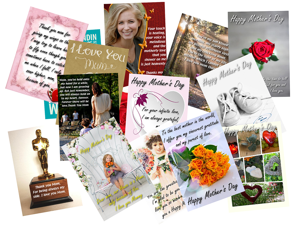 Mother's Day templates (portrait format)