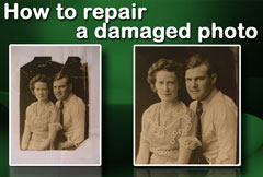 How to repair a damaged photo with Image Dream