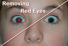 Removing Red Eyes with Image Dream