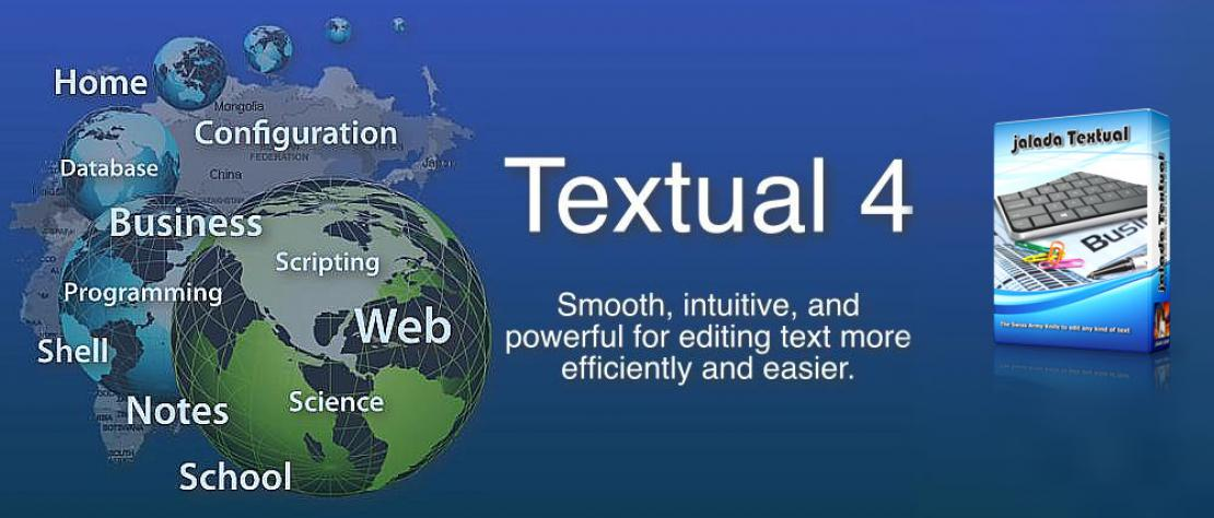 jalada Textual 4 - The text editor for Mac OS X packed with features.