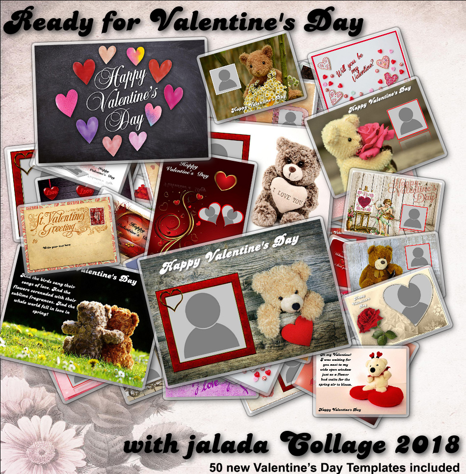 The new jalada Collage 2018 with 50 new templates for valentine's day