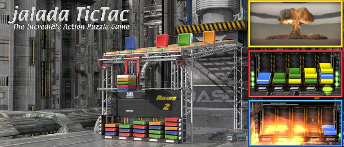 jalada TicTac is the next generation fun, fast and totally mind-boggling match 3 arcade game in 3D.